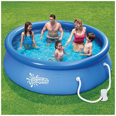 Summer Escapes 10 X 30 Quick Set Pool At Big Lots Small Swimming Pools Swimming Pools Above Ground Swimming Pools