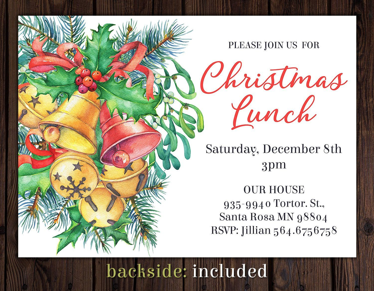 christmas invitation  watercolor christmas invitations