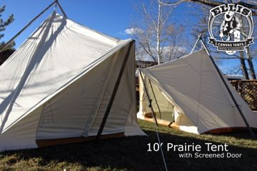 10x10 Prairie Tents by Ellis Canvas Tents //.elliscanvastents.com & 10x10 Prairie Tents by Ellis Canvas Tents http://www ...