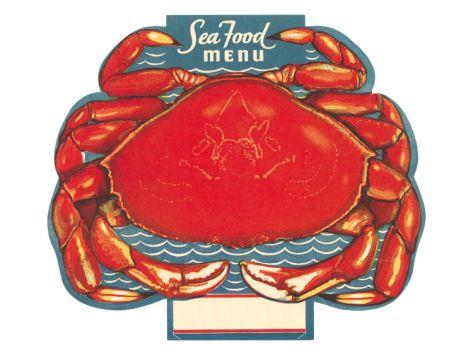 seafood menu crab premium poster at art com