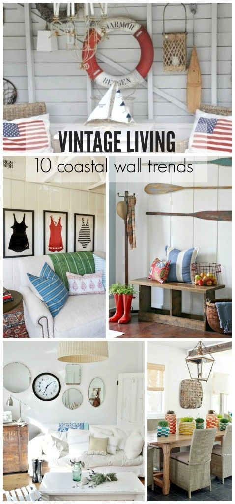 Vintage living 10 coastal wall trends