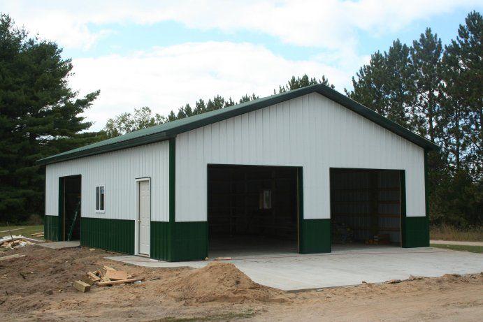 How To Construct A Simple Garage Pole Barn Style 30x40 Pole Barn