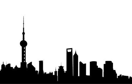 Shanghai Skyline Tattoos Pinterest Shanghai Silhouette And Shanghai Skyline Skyline Tattoo Skyline Silhouette