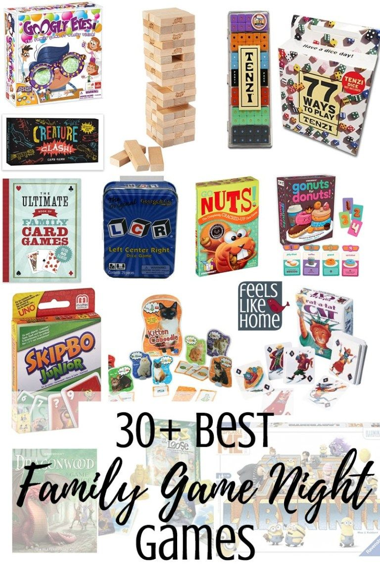 30+ Best Games for Family Game Night (When You Have a Non
