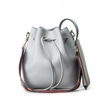 db60525bf6af6 Fashion Colorful Strap Bucket Bag Women practical Pu Leather Shoulder  Bagintothea