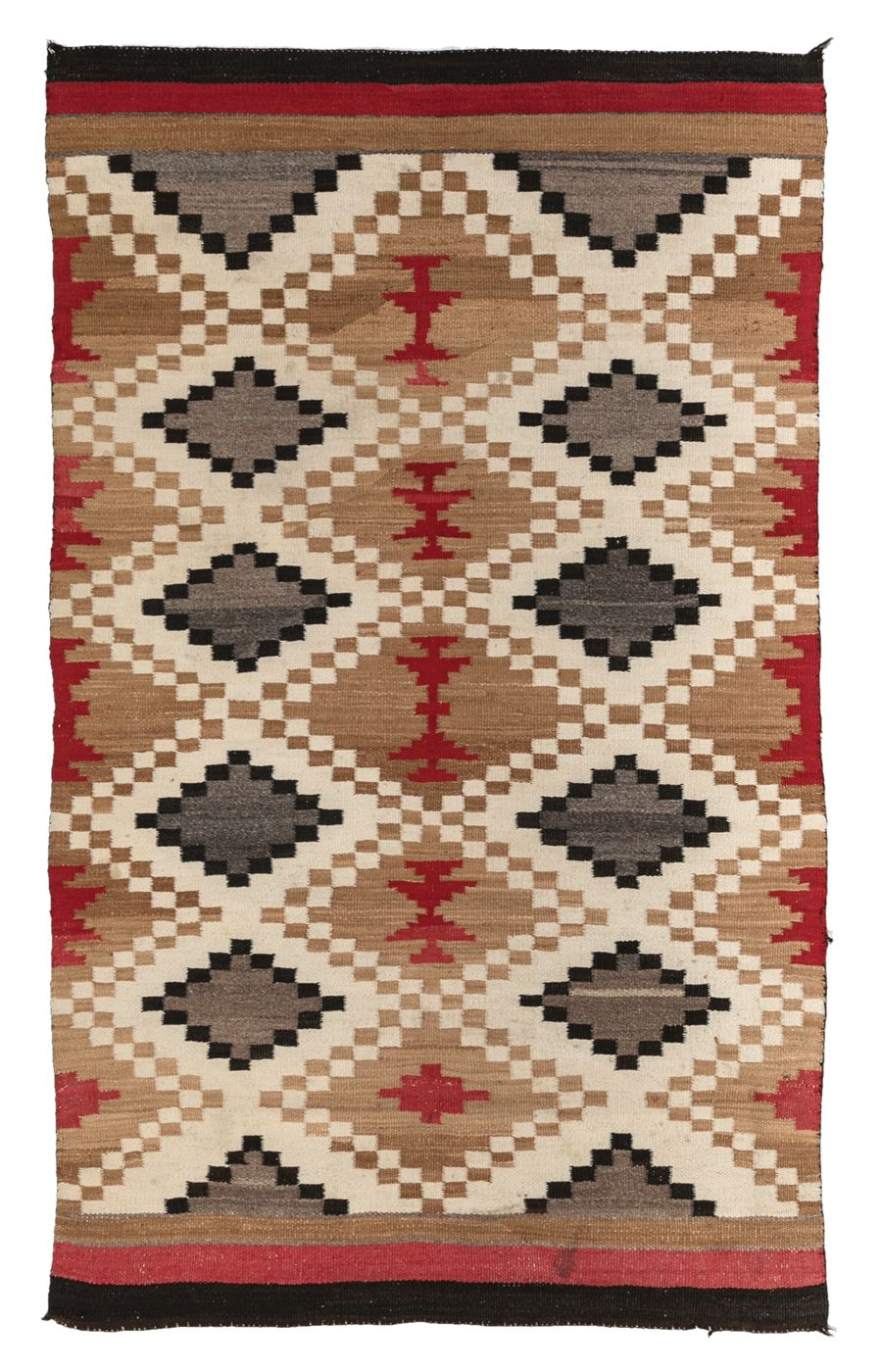 Navajo Weaving Navajo Rug With Symmetrical Checkered Diamond
