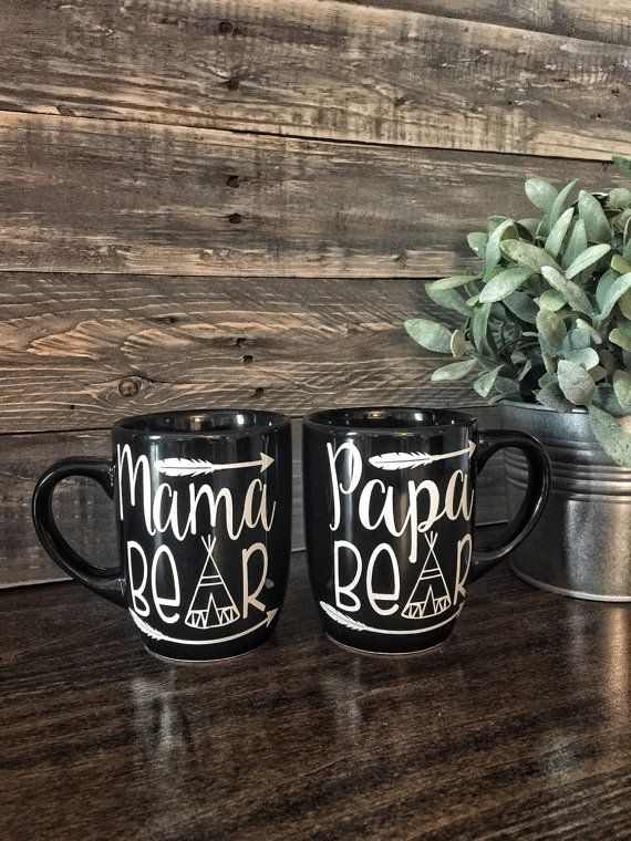 47518e65dd Set of 2 matching Mama bear & Papa bear coffee mugs - mom gift - new ...