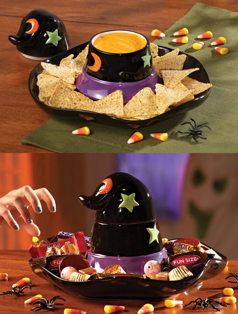 Witches Hat Chip  Dip Set Halloween Pinterest Witches
