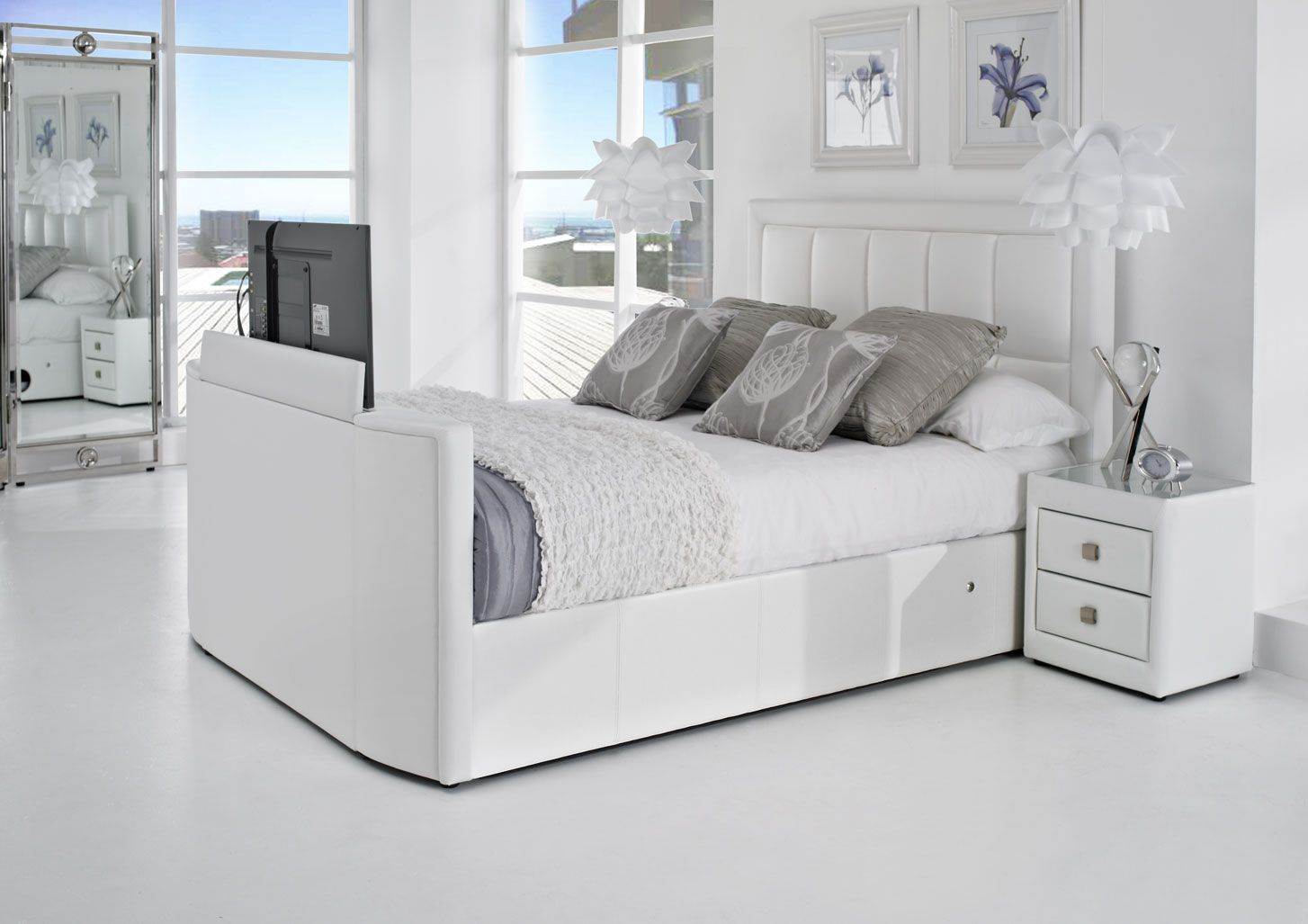 The Azure is available in white, brown and black. Bedside