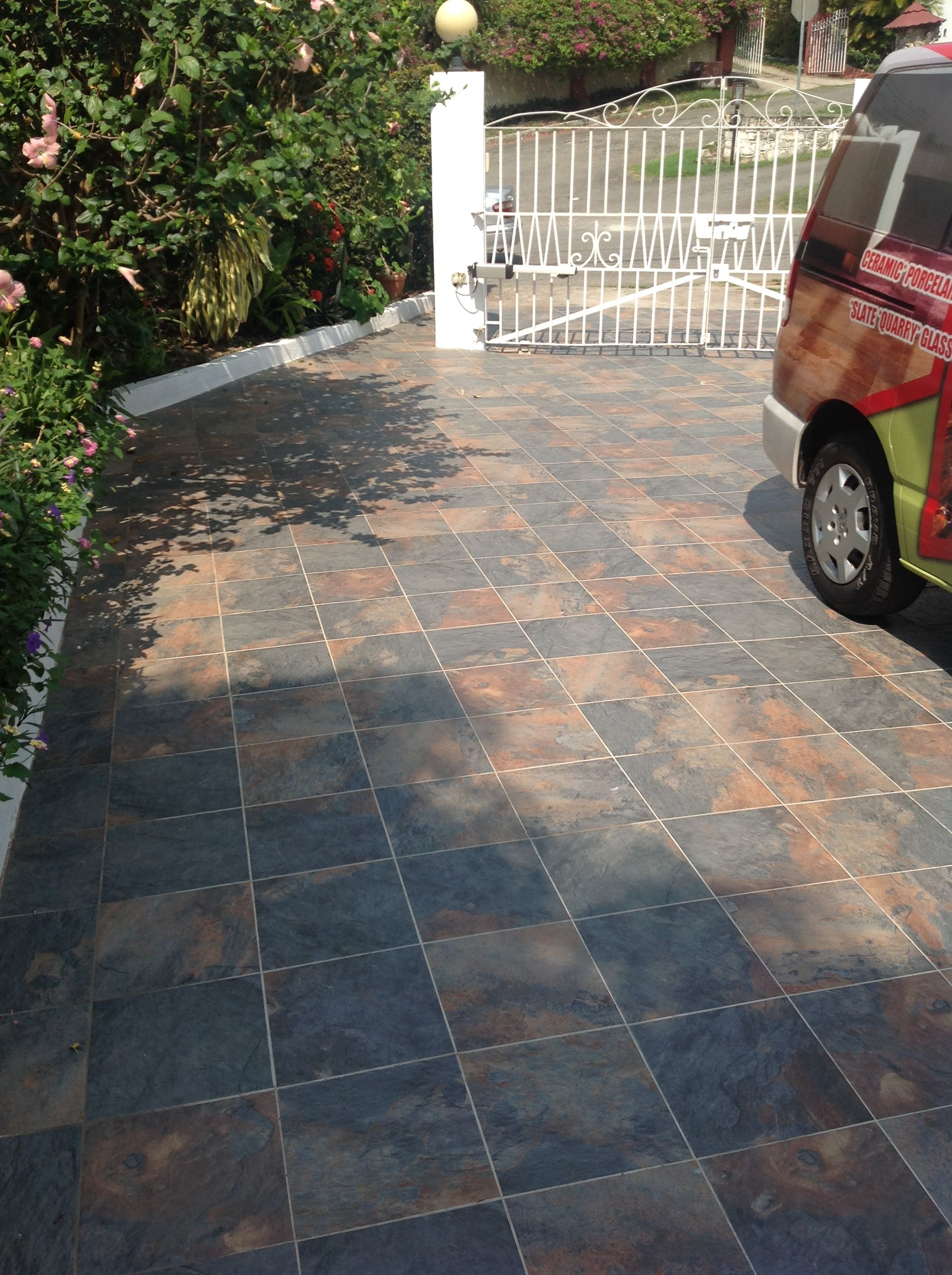 Ordinaire Slate Look Outdoor Tile. #driveway #patio #ceramic #tile #creative #jamaica  #homeimprovement