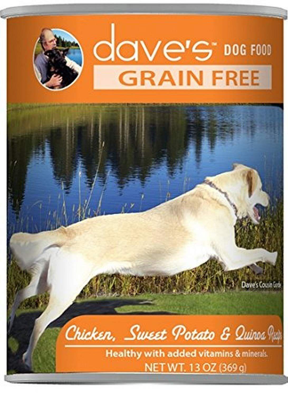 Dave'S Grain Free, Chicken, Sweet Potato & Quinoa For Dogs