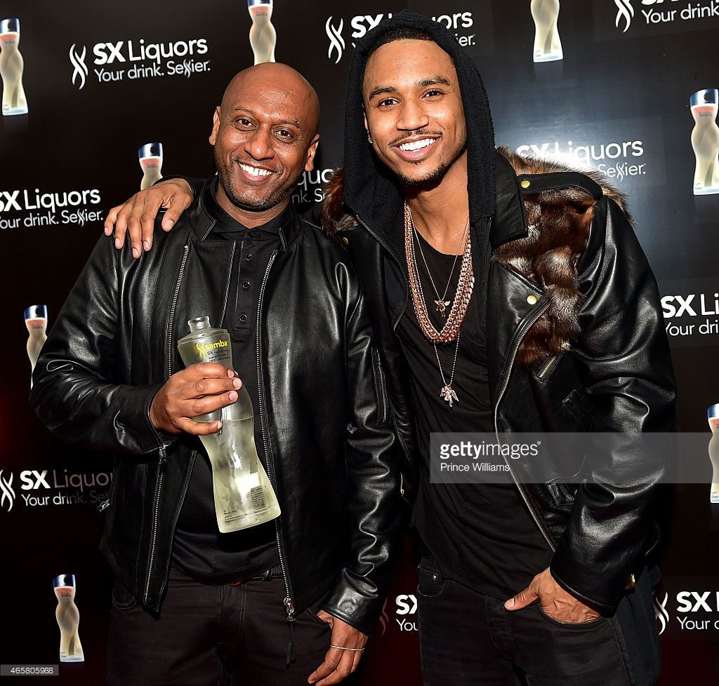 72c6f276829 Alex Gidewon and Trey Songz attend Trey Songz Private Launch of SX Liquors  and Official Concert After Party at Compound on March 2