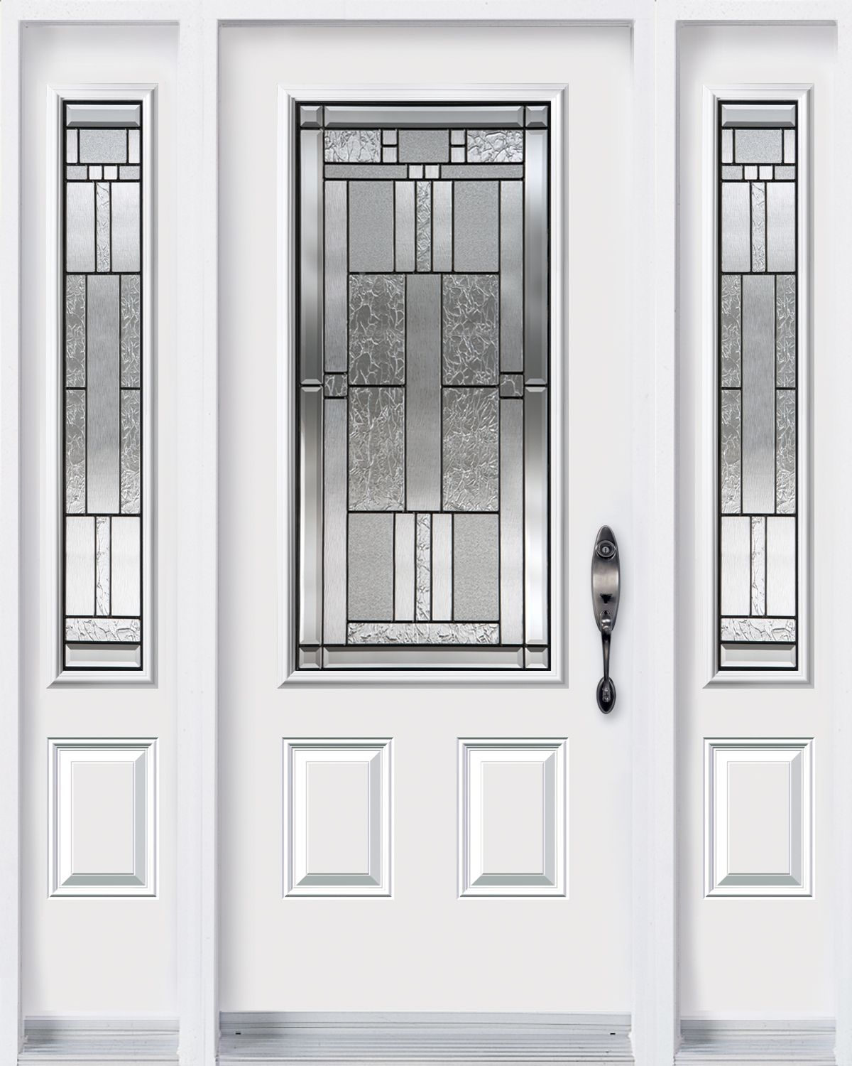 Elegance Series Leaded Glass Door Sliding Glass Door Glass Door