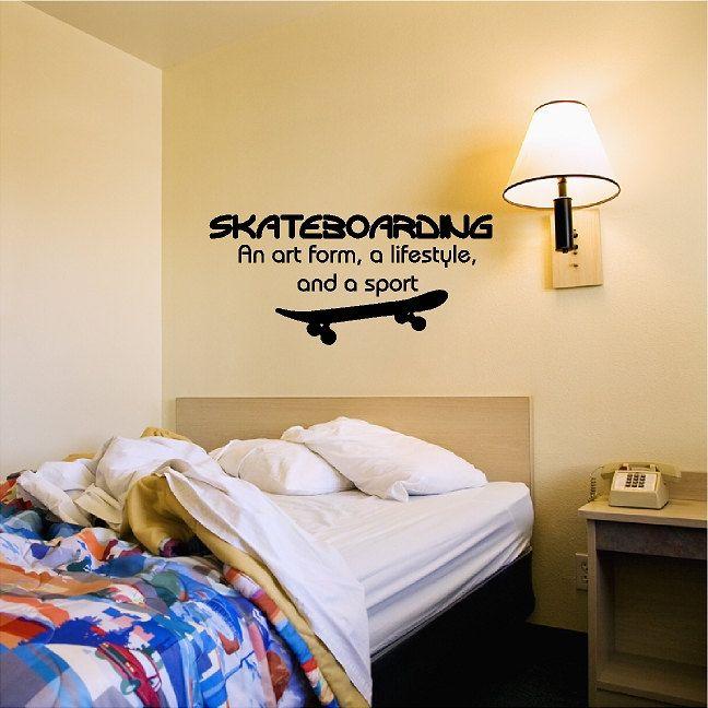 Skateboarding Wall Decal Removable Skateboarder Wall Sticker Skate ...