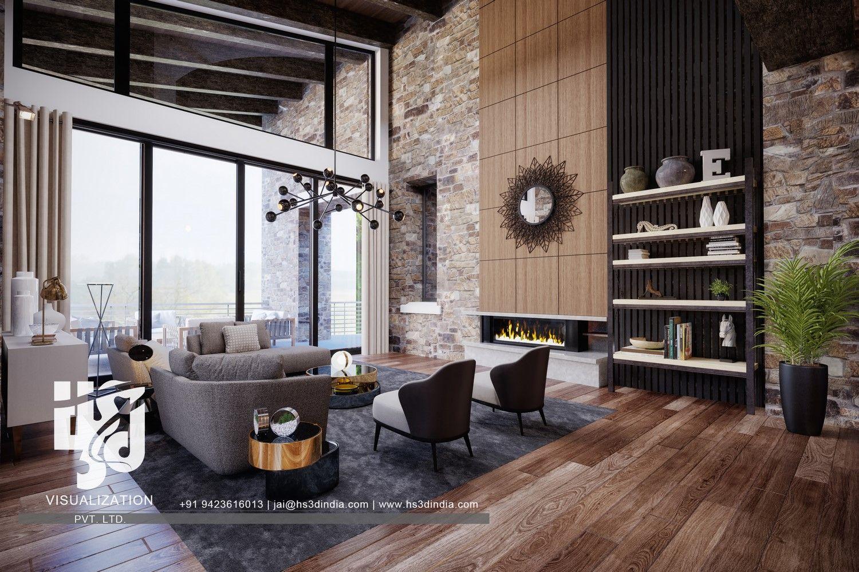 most presentable residential interior 3d renderinghs3d