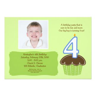 Download FREE Template 4 Year Old Birthday Invitations