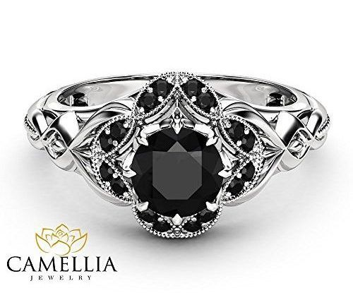 Gothic Engagement Rings I Want It Black Black Gold Ring Black Engagement Ring Gothic Engagement Ring