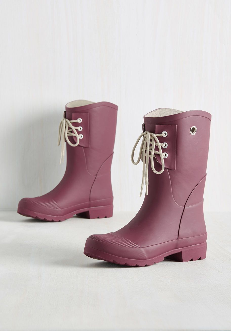 Rainy Route Rain Boot in Mulberry, #ModCloth