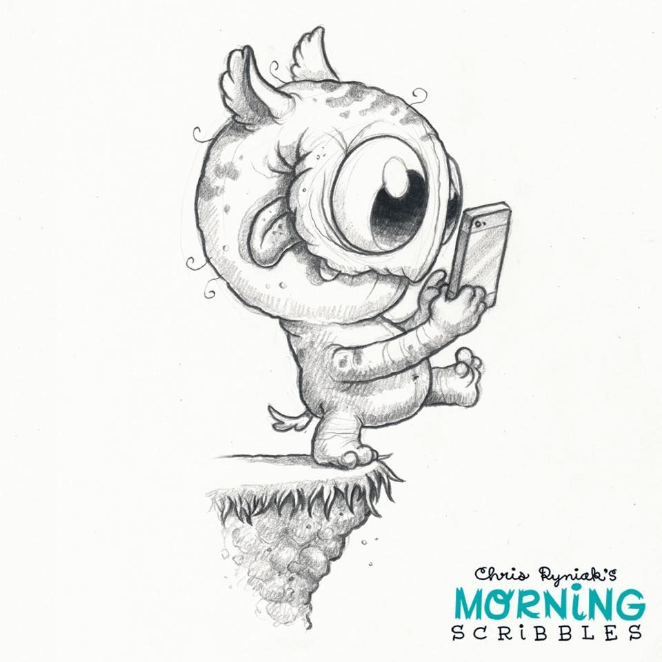 Scribble Monster Drawing : Chris ryniak morning scribbles drawing pinterest