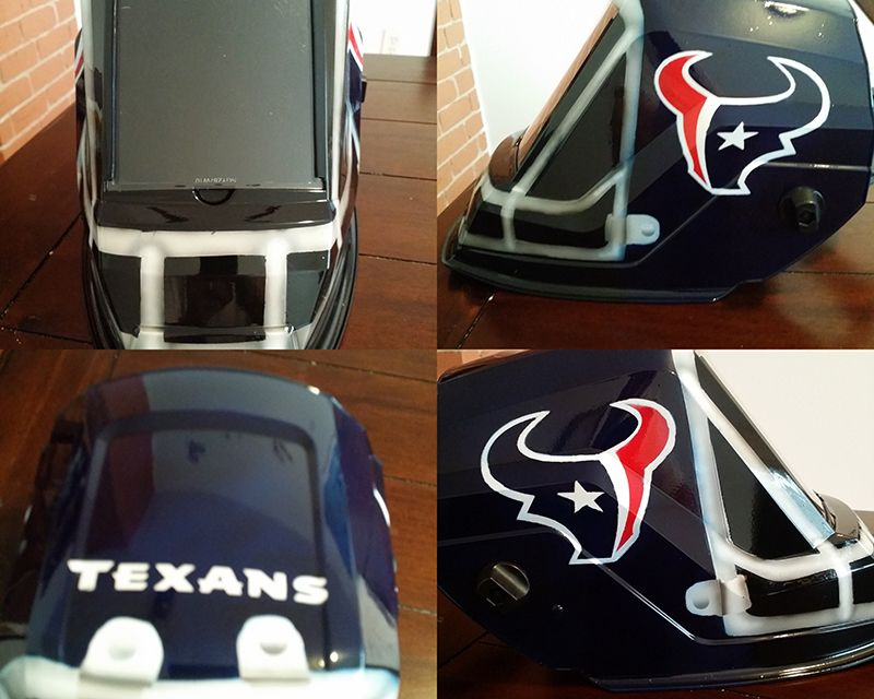 Texans welding helmet custom painted
