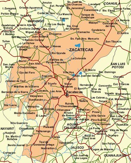 Zacatecas Mexico Map vetagrande zacatecas mexico |  ortega 054 villa hidalgo 055