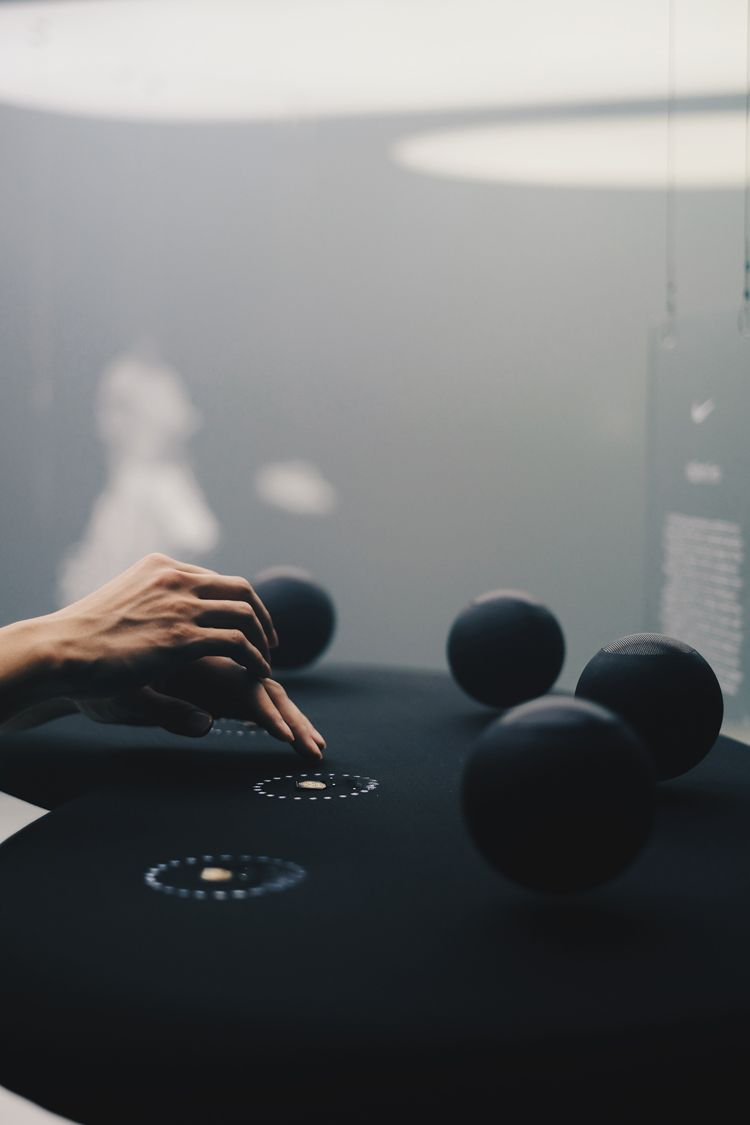 h0nh1m has teamed up with NikeLab to conceived VaporScape, an interactive soundscape installation to celebrates the new VaporMax technology.