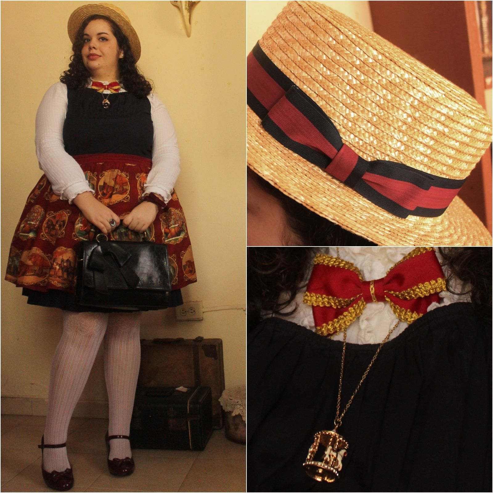 "I wore an ""old-timey carnival"" themed outfit for the Puerto Rico Comic Con"