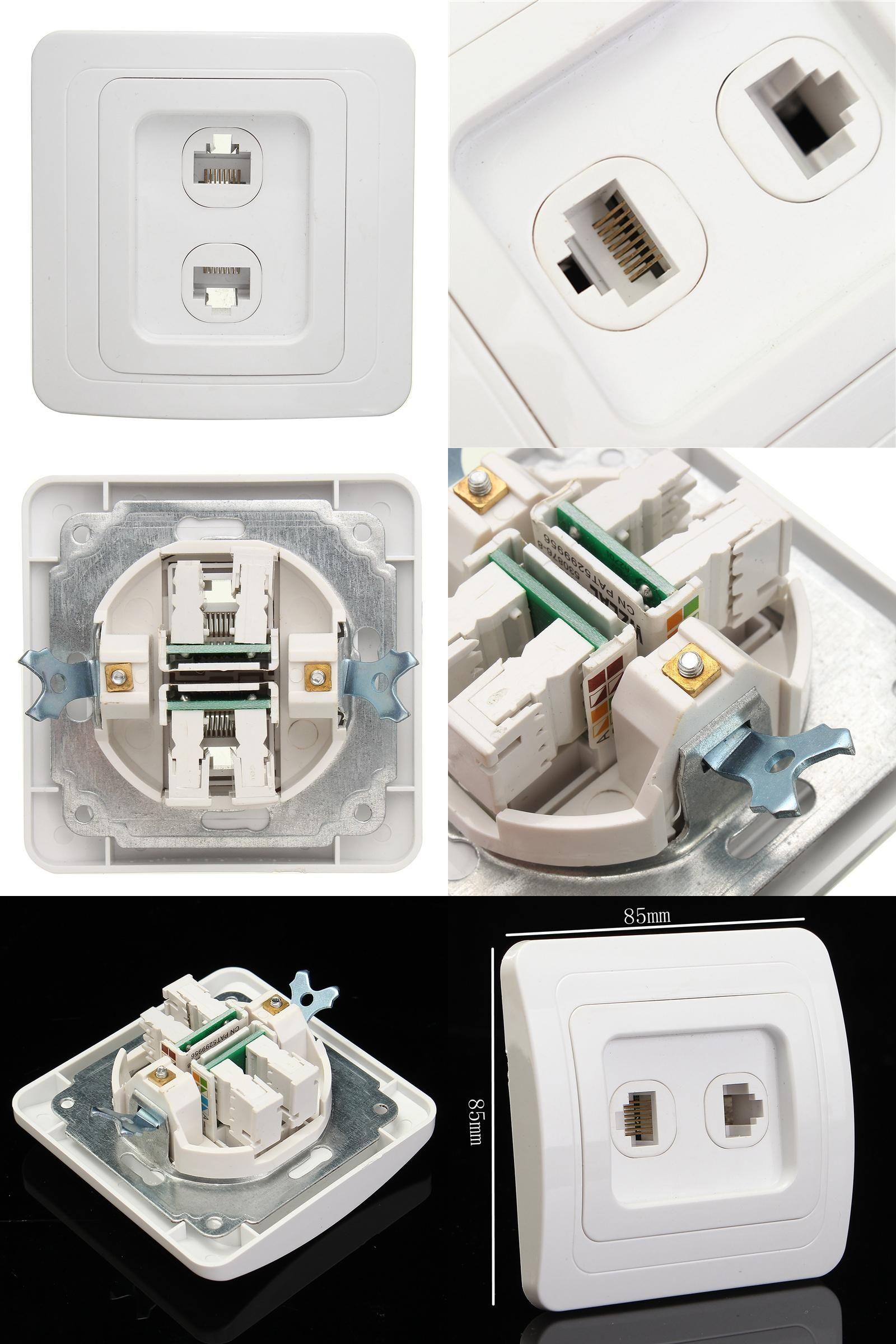 Visit To Buy Electric 2 Lan Ports Rj45 Network Socket Wall Mount