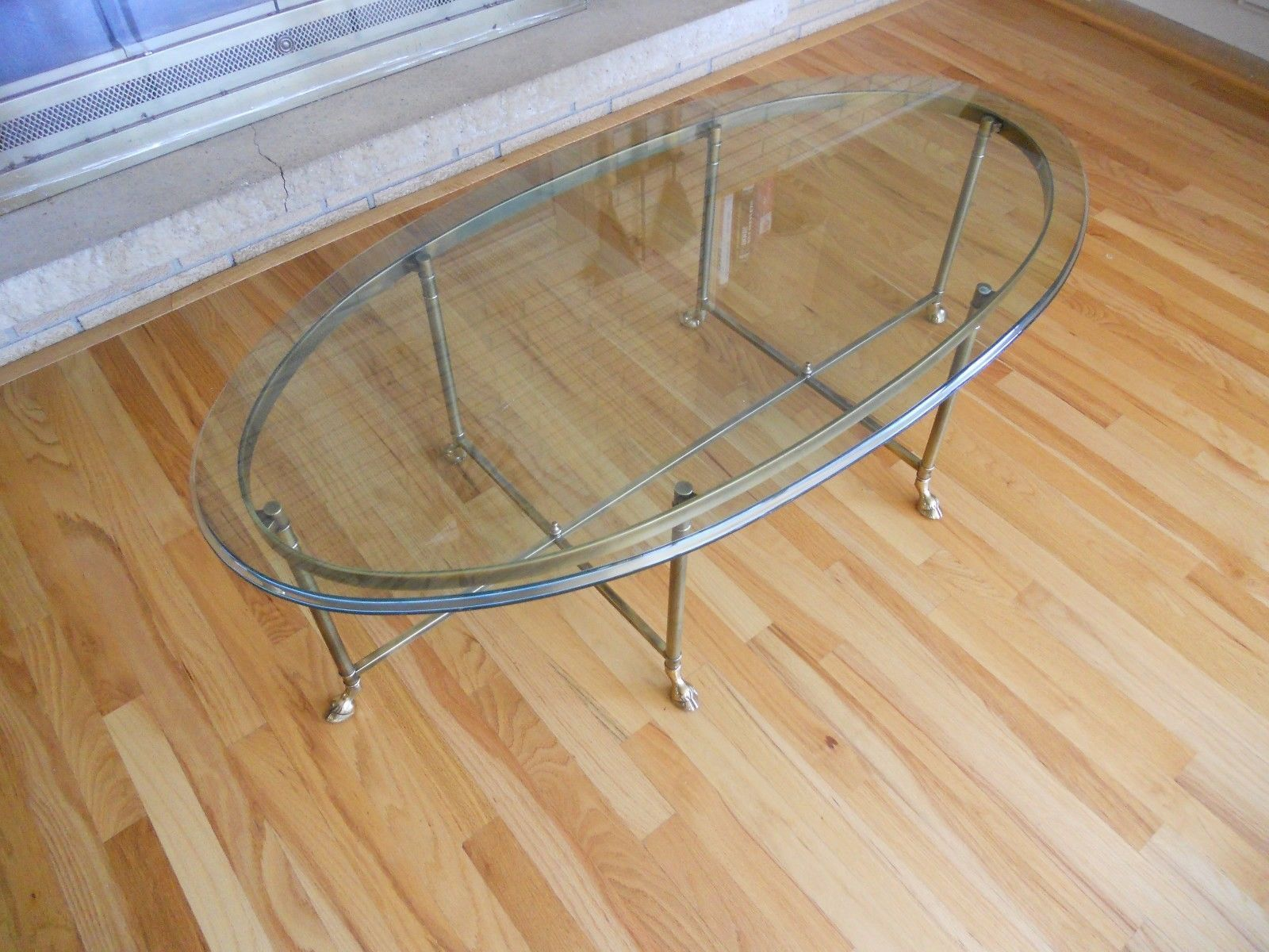 Mid Century La Barge Hoof Footed Coffee Table Brass Glass Hollywood Regency 1960 Coffee Table Brass Coffee Table Table [ 1200 x 1600 Pixel ]