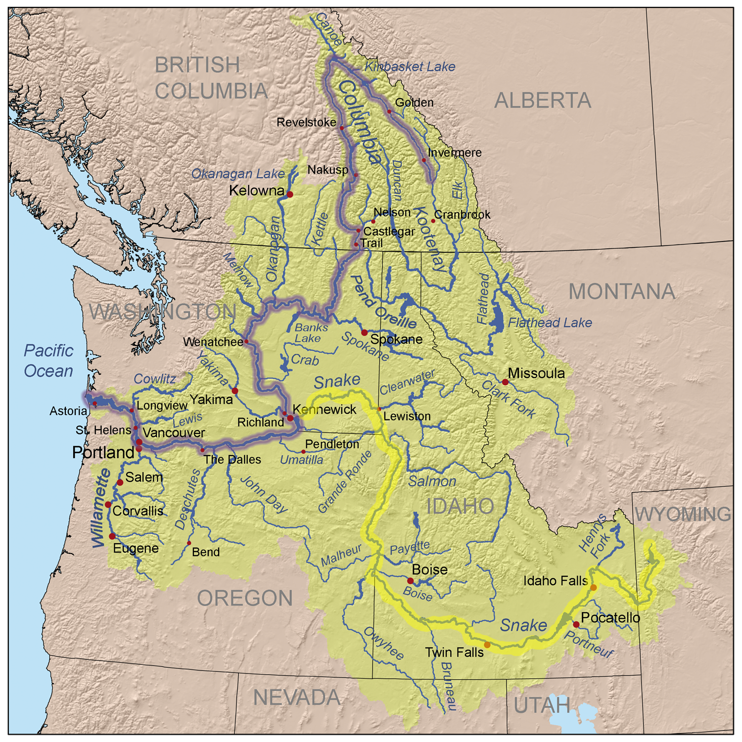 map of snake river   Google Search | Invisible Oregon Trail