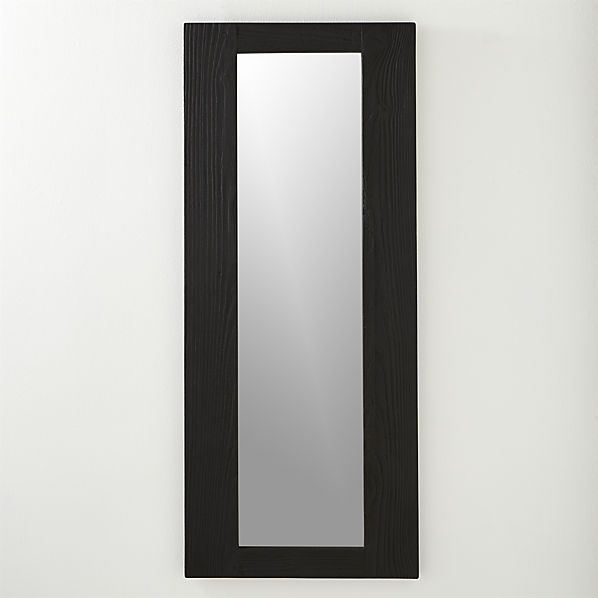 charred 20 x48 wall mirror cb2 broderick kitchen. Black Bedroom Furniture Sets. Home Design Ideas