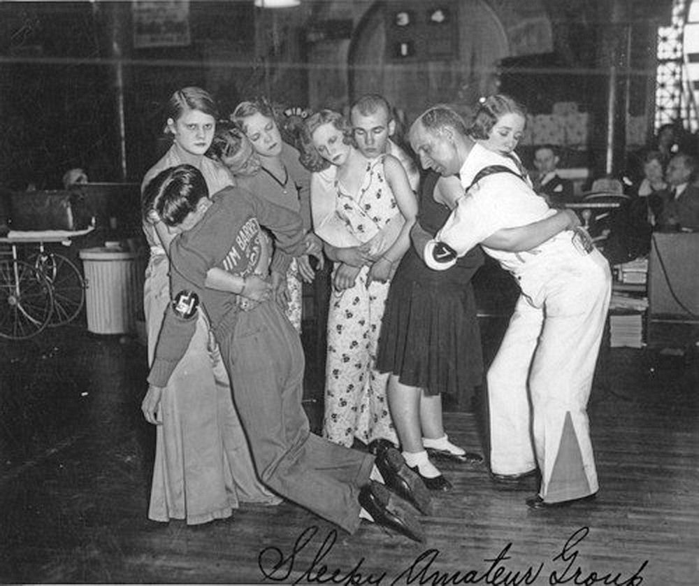 Old Black Rugby Dance: Last 4 Couples Standing At A Chicago Dance Marathon, 1930