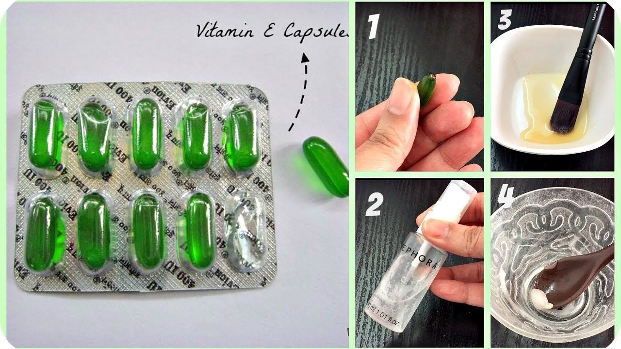 Vitamin E Capsules for Skin and Hair Care Beauty tips in
