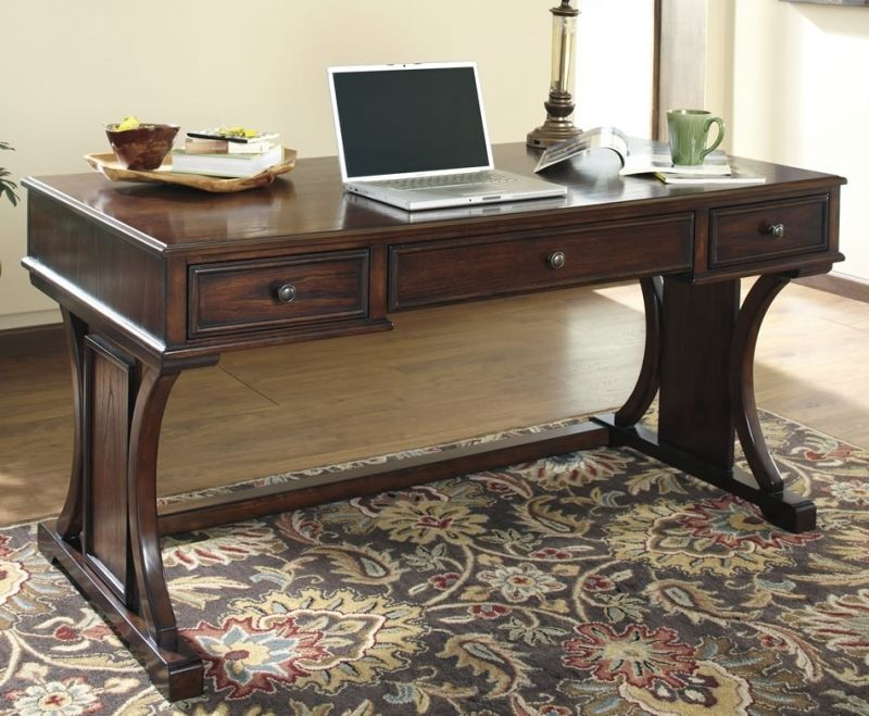 Wooden Home Office Desk Executive Black Grain Wood For Table