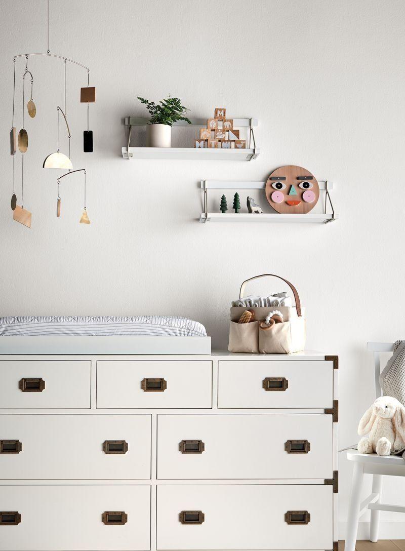 Suspension Wall Shelf Crate And Barrel In 2020 Nursery Shelves Nursery Shelf Decor White Wall Mounted Shelves