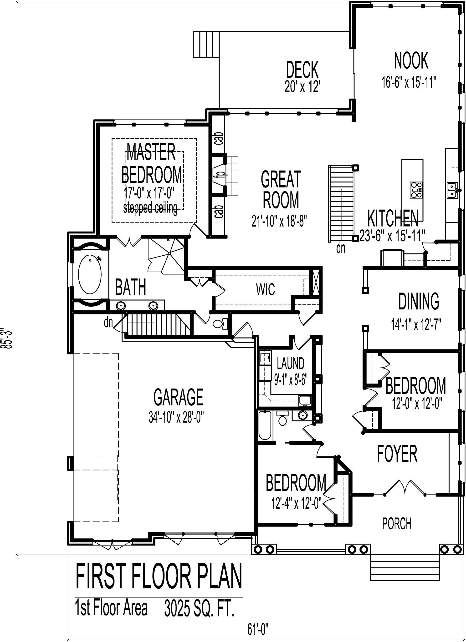 Tudor Style House Plans Custom Luxury 3000 SF 2 Bedroom 2 Bath ...