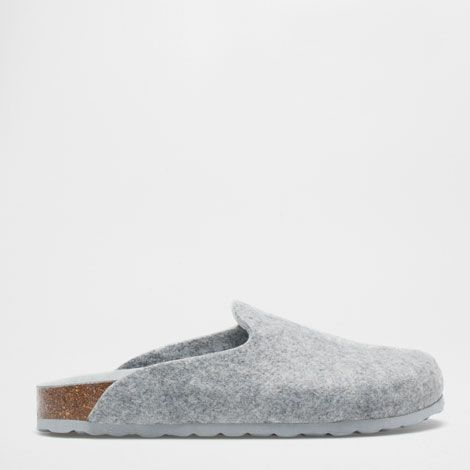 45feed8067898 GREY FELT CLOGS - Woman - Loungewear & shoes | Zara Home United ...