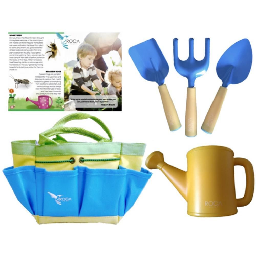 Gardening Tools For Kids And Beach Toys By ROCA Home. Outdoor Toys And  Learning Toys. Cute Garden Bag Or Beach Bag And Early Learning Guide.