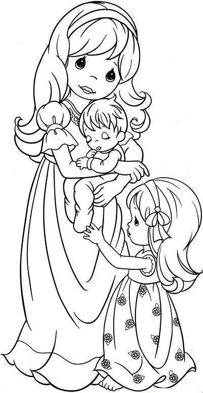 Interchangeable Wreath Precious Moments Coloring Pages Coloring