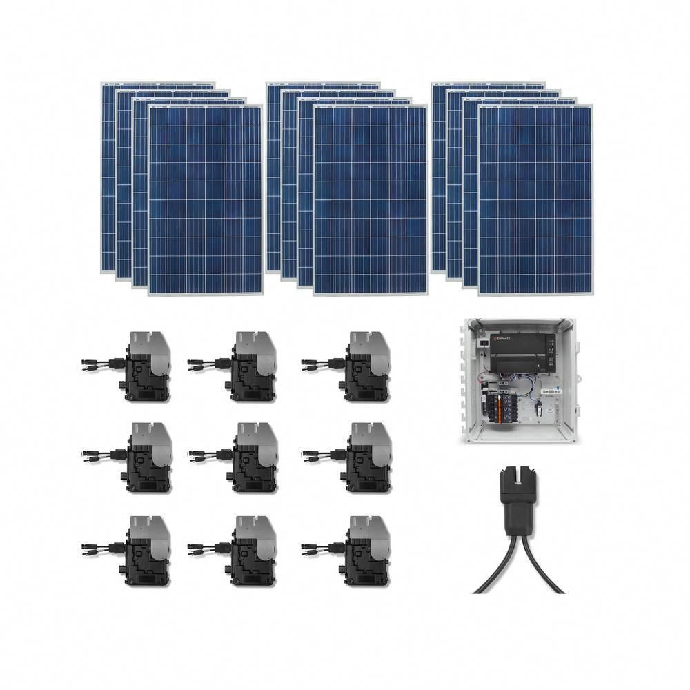 Grape Solar 5 300 Watt Expandable Poly Crystalline Pv Grid Tied Solar Power Kit Gs 5300 Kit Solar Power Kits Solar Projects Solar Panels