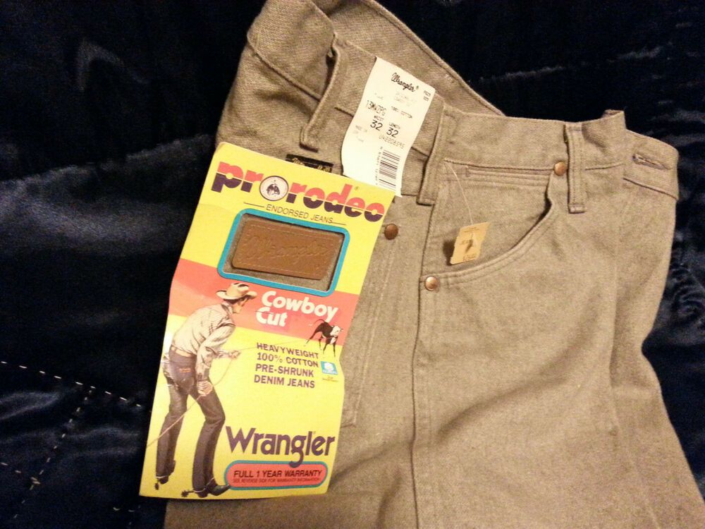 e312812f VINTAGE WRANGLER COWBOY CUT PRORODEO HEAVYWEIGHT JEANS-32 X 32 WITH TAGS  BROWN #Wrangler