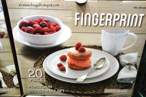 Over and Back Fingerprint 20-Piece Porcelain Dinnerware Set. #Costco ...