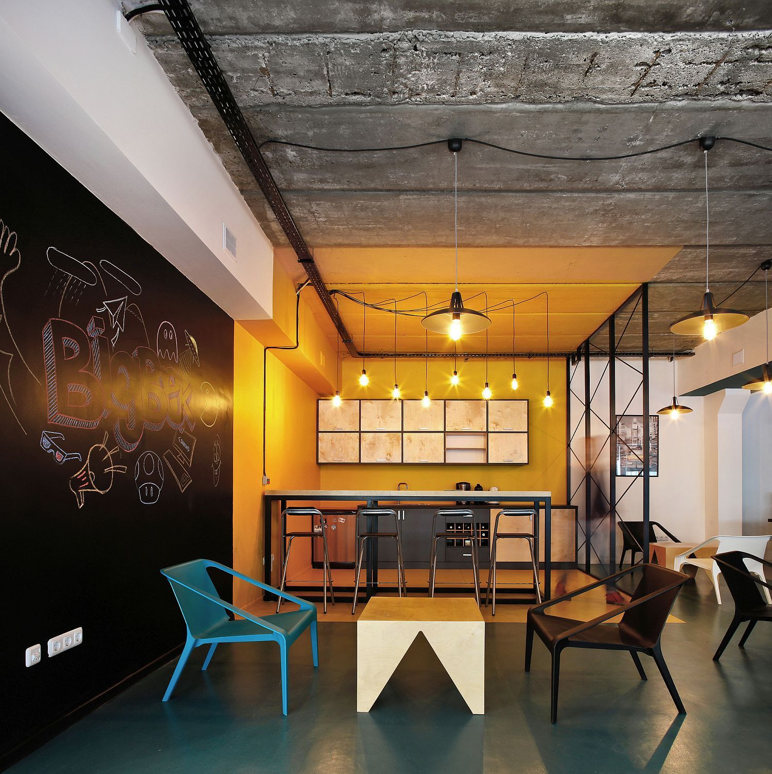 A World Of Color And Creative Design Modern Industrial Office In