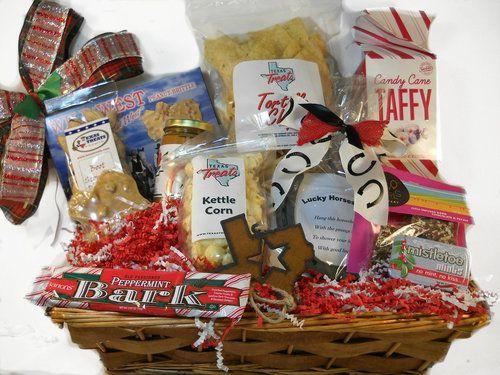 Christmas texas gift basket ideas