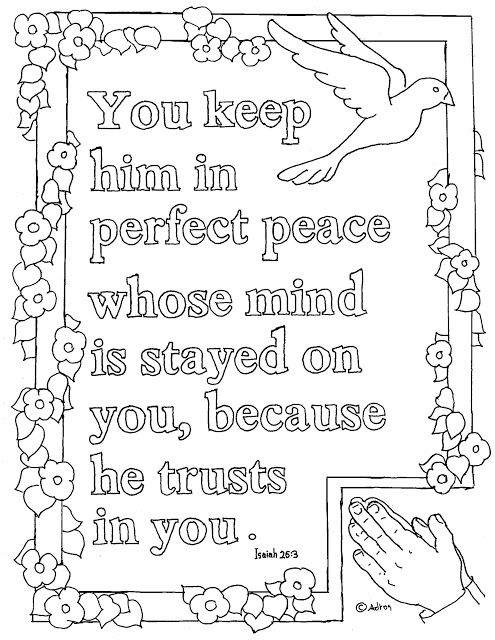 Coloring Pages For Kids By Mr Adron Printable Isaiah 263 Page