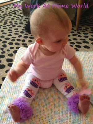 ENDS 1/28/2014  Legwarmers and Headband Set My Work At Home World: Etsy Spotlight: Maddie Grace Bowtique! {Review & GIVEAWAY!) #giveaway #entertowin #baby #accessories #legwarmers #headband #bow @Darisa Laurens #cupcakes
