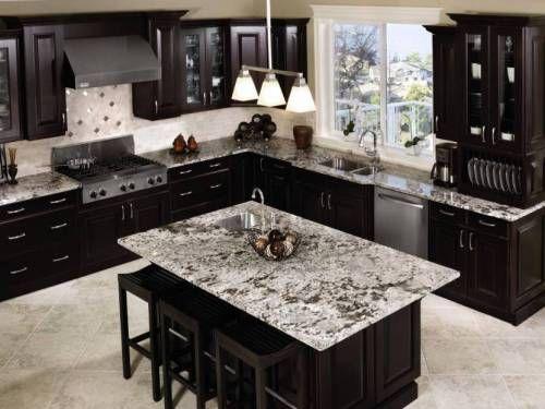 kitchen table island granite top - Google Search   kitchen hutch ...
