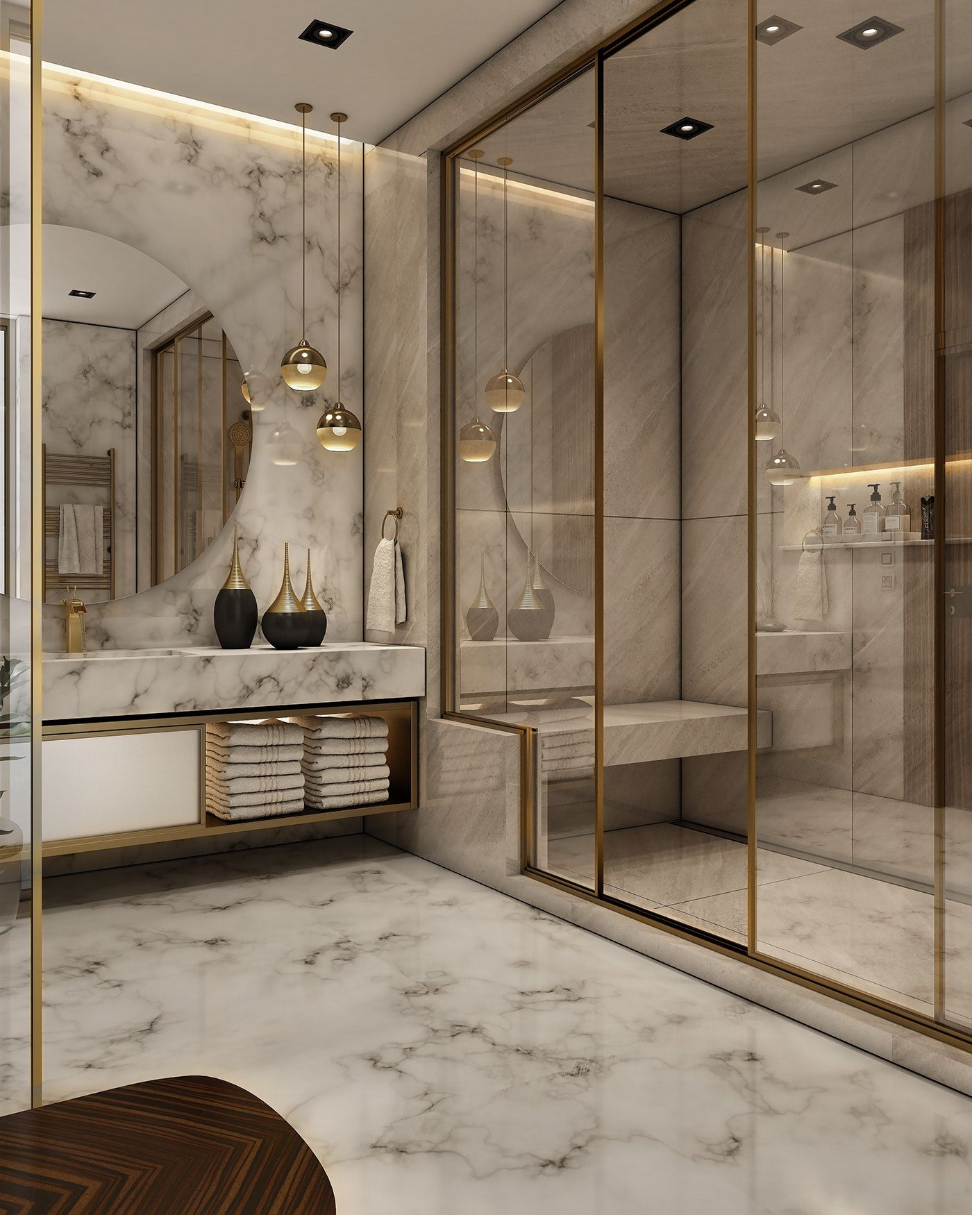 Check Out This Behance Project Luxurious Bathroom Https Www Behance Net Gallery 68 Bathroom Design Luxury Bathroom Interior Design Modern Bathroom Design