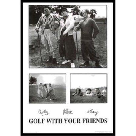 Buyartforless if sb p1224 36x24 1 25 black plexi framed golf with your friends the three