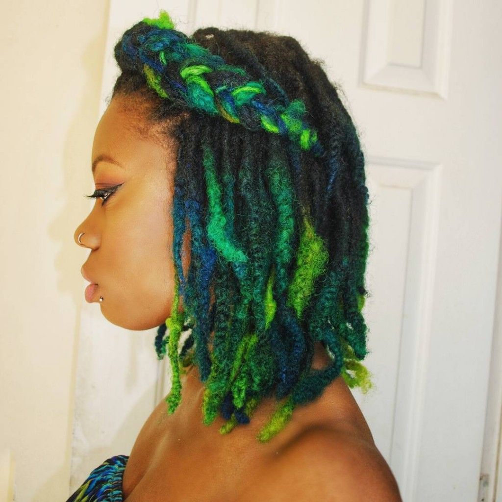 Natural Dreads Dyed In Manic Panic | Yarn Twists, braids and Micro ...